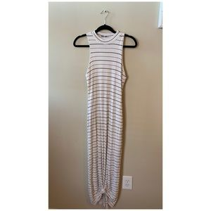 Black and off white maxi dress